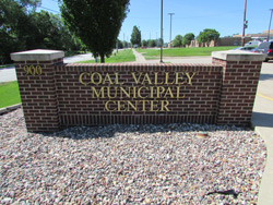 Sign for Coal Valley Municipal Center