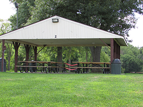 An image of a pavillion in a park in Coal Valley